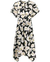 Ba&sh Fairy Floral-print Midi Dress - Black