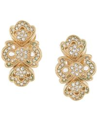 Dior 1980s Pre-owned Strass Earrings - Metallic