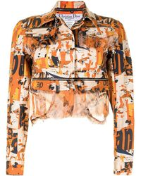 Dior - Pre-owned Detachable Cropped Jacket - Lyst