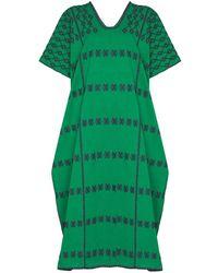 Pippa Holt Three Panel Maxi Dress - Green