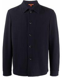 Barena Camisa de punto con botones - Azul