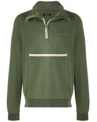 Z Zegna Turtleneck zip-up sweatshirt - Vert