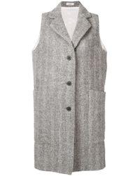 Lardini - Sleeveless Single-breasted Coat - Lyst