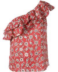Étoile Isabel Marant - One Shoulder Floral Top - Lyst
