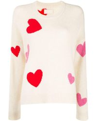 Zadig & Voltaire Jersey de punto con motivo de corazones - Multicolor