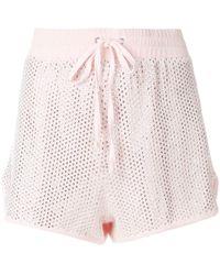 Juicy Couture Swarovski Versierde Velours Short - Roze