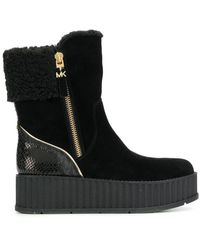 MICHAEL Michael Kors Platform Boots - Black