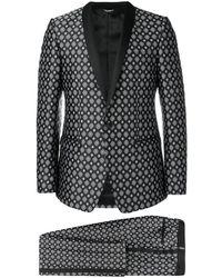 Dolce & Gabbana Jacquard Suit - Black
