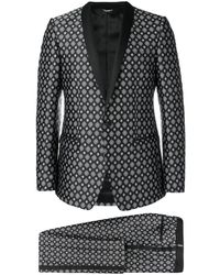 Dolce & Gabbana Traje en jacquard - Negro
