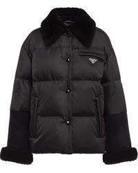 Prada パデッドジャケット - ブラック