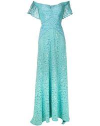 Martha Medeiros Rafaela Lace Gown - Blue