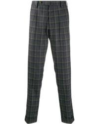 PT01 Pantalones con motivo de cuadros - Gris