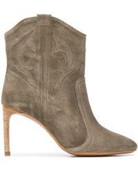 Ba&sh Caitlyn Ankle Boots - Green