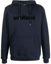 Soulland ドローストリング パーカー - ブルー