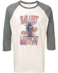 Saint Laurent Футболка С Принтом Робота - Многоцветный