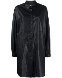 YMC パッチポケット シャツドレス - ブラック