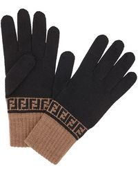 Fendi Ffニット手袋 - ブラック
