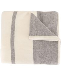 James Perse Cashmere Oversized Striped Scarf - Grey