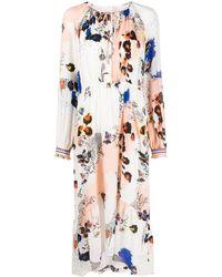 Lala Berlin Floral-print Midi Dress - White