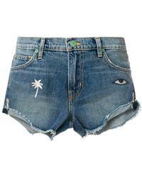Sandrine Rose - Embroidered Denim Shorts - Lyst