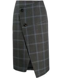 Marni チェック スカート - グレー
