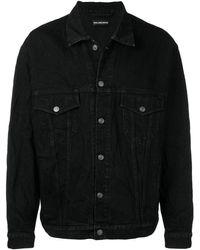Balenciaga Ruimvallende Spijkerjas - Zwart