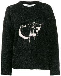 Off-White c/o Virgil Abloh ロゴ セーター - ブラック