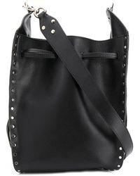 Isabel Marant Radja Large Studded Bucket Bag - Black