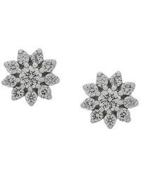 Dana Rebecca 14kt White Gold Jennifer Yamina Diamond Studs - Metallic
