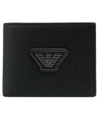 Emporio Armani 二つ折り財布 - ブラック