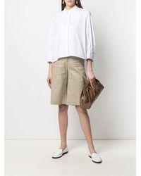 Fabiana Filippi Рубашка С Укороченными Рукавами - Белый