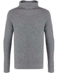 Aspesi Roll-neck Long Sleeve Sweater - Gray