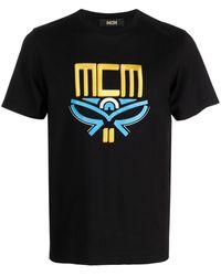 MCM Футболка С Вышитым Логотипом - Черный