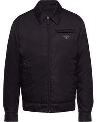 Prada ジップ パデッドジャケット - ブラック