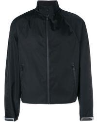 Prada Logo Tab Windbreaker Jacket - Black