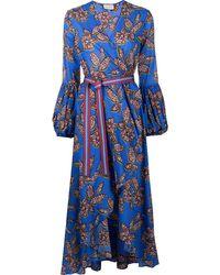 Alexis Livana プリント ドレス - ブルー