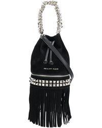 Philipp Plein Fringed bucket bag - Noir