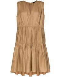 JOSEPH Lema Gathered Mini Dress - Brown