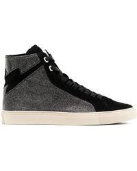 Zadig & Voltaire High-top Lace-up Trainers - Black