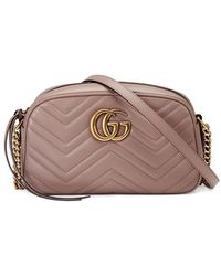 Gucci GG Marmont Mini Matelasse Camera Bag, Nude - Multicolour
