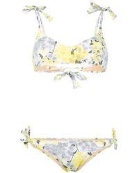 Emmanuela Swimwear - Floral Print Bikini - Lyst