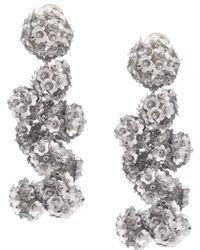 Fleur Coconuts clip-on earrings - Pink & Purple Sachin & Babi 75YriB6om