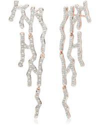 Monica Vinader Riva Waterfall Cocktail Diamond Earrings - Metallic