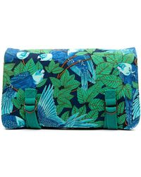 Hermès Клатч С Принтом - Зеленый