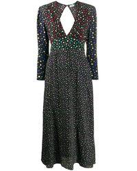 RIXO London Cordelia Midi Dress - Black