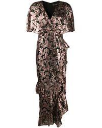 Saloni - メタリック ドレス - Lyst
