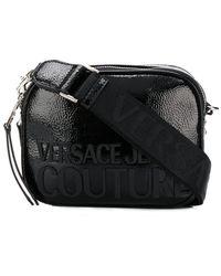Versace Jeans Schoudertas Met Logoprint - Zwart
