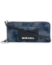 DIESEL Allium ファスナー財布 - ブルー