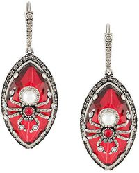Alexander McQueen - Embellished Spider Earrings - Lyst