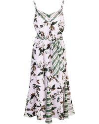Diane von Furstenberg - Floral And Check Dress - Lyst